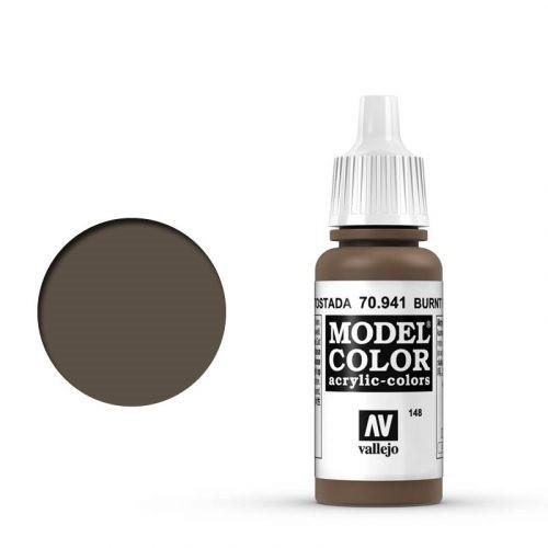 Vallejo Model Color: 148 Sepiabraun (Burnt Umber), 17 ml (941)