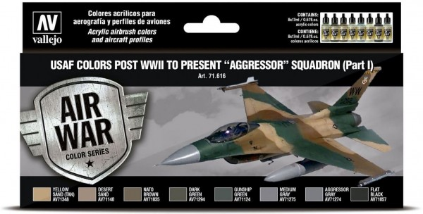 """Model Air: USAF colors post WWII to present """"Aggressor"""" Squadron"""