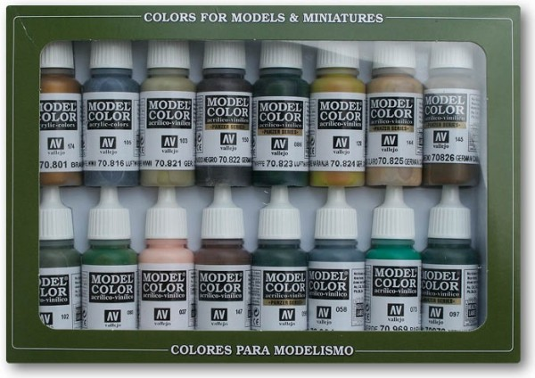 Vallejo Model Color: Set 14: WWII German Camouflage (16 Farben)