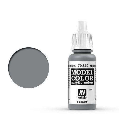 Vallejo Model Color: 158 Mittelgrau (Medium Sea Grey), 17 ml (870)