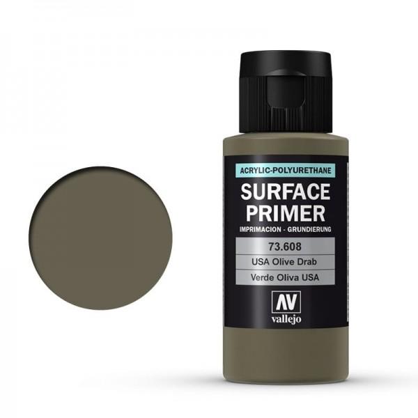 Vallejo Surface Primer Olive Drab (60ml)