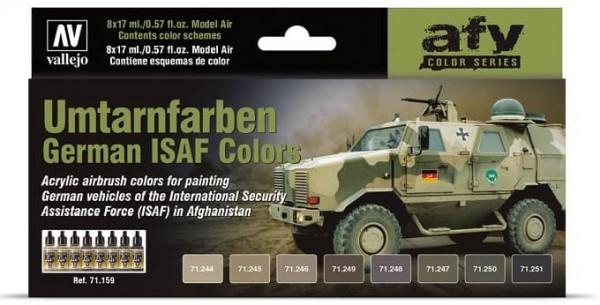 Model Air: Model Air Set Umtarnfarben German ISAF Color Set (8)