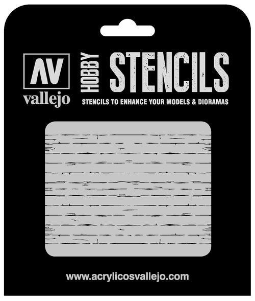 Vallejo Hobby Stencils: Wood Texture Num. 1