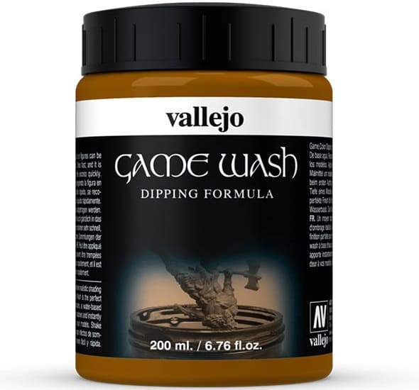 Vallejo Game Color Ink: Game Dipping Formula Wash Sepia Shade, 200ml