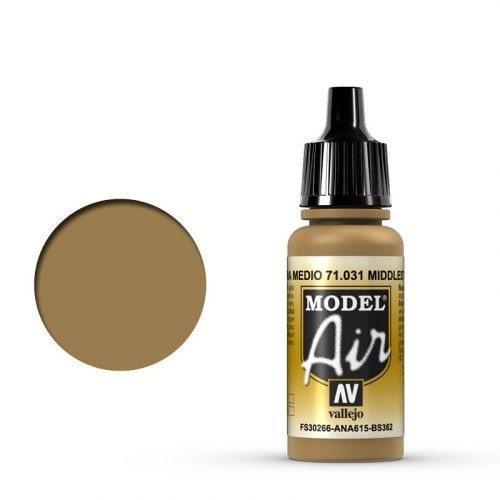 Vallejo Model Air: 031 Middle Stone, 17 ml