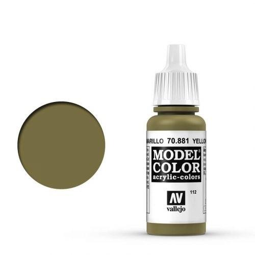 Vallejo Model Color: 111 Olivgrau (Medium Grey), 17 ml (987)