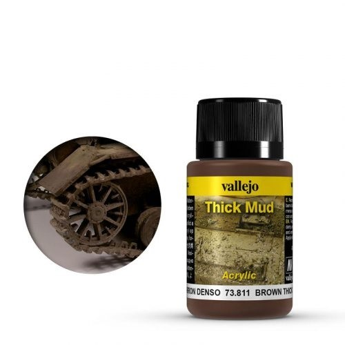 Vallejo Weathering Effects Thick Mud Brown 40 ml