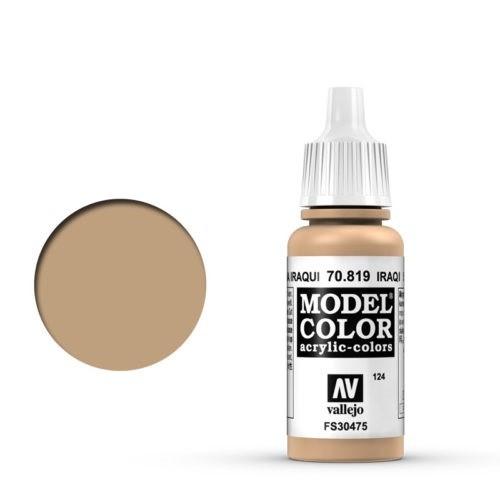 Vallejo Model Color: 124 Iraki Sand (Iraqui Sand), 17 ml (819)