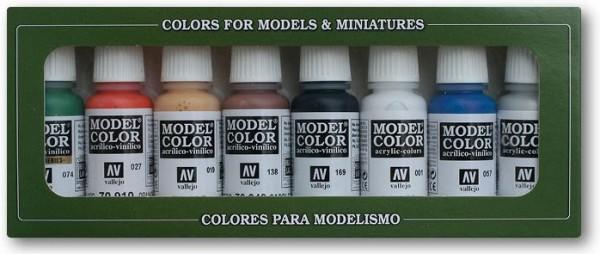 Vallejo Model Color: Set 03: Wargames Basics (8 Farben)