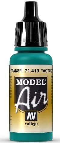 "Vallejo Model Air: 71419 ""Translucent Blue"" 17ml"