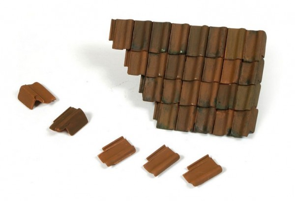 Damaged Roof Section and Tiles