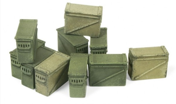 Modern 12.7Mm Ammo Boxes Large