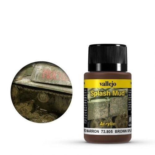 Vallejo Weathering Effects Splash Mud Brown 40 ml