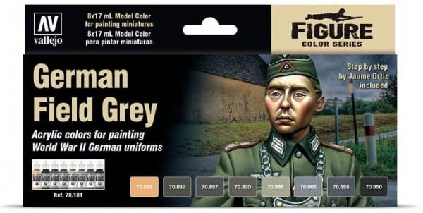 Vallejo Model Color: Model Color: German Field Grey Set (8)