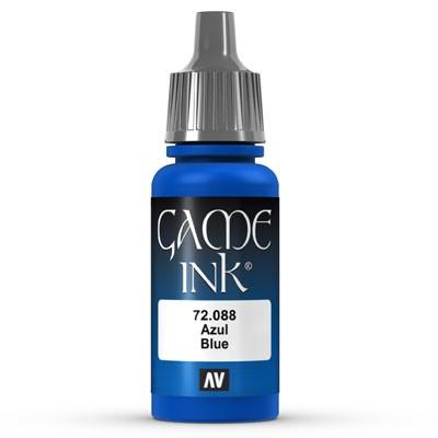 Vallejo Game Color Ink: 088 Ink Blue, 17 ml