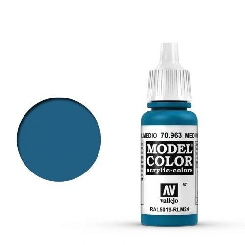 Vallejo Model Color: 057 Enzianblau (Medium Blue), 17 ml (963)