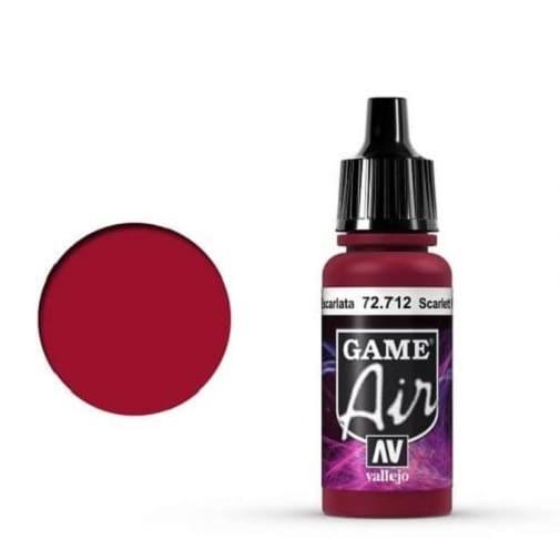 Vallejo Game Air 712 Scarlett Red, 17 ml