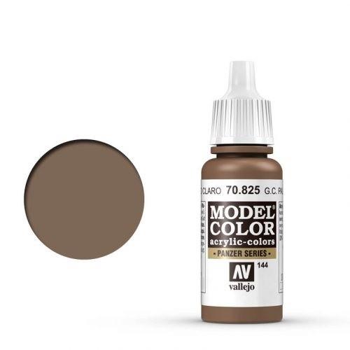 Vallejo Model Color: 144 Blassbraune Tarnung (German Camo Pale Brown), 17 ml (825