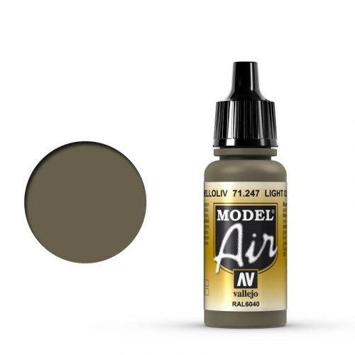 Vallejo Model Air: 71247 Helloliv (RAL6040) 17 ml