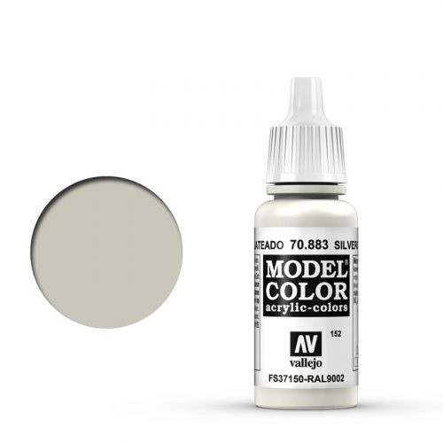 Vallejo Model Color: 152 Hellgrau (Silvergrey), 17 ml (883)