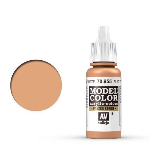 Vallejo Model Color: 018 Beige Hautfarbe (Flat Flesh), 17 ml (955)