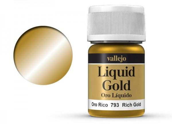 Vallejo Model Color: 214 Reichgold (Rich Gold), 35 ml (793)