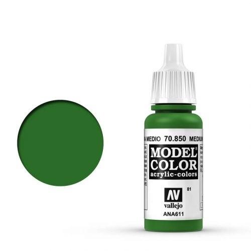 Vallejo Model Color: 081 Armeegrün (Medium Olive), 17 ml (850)