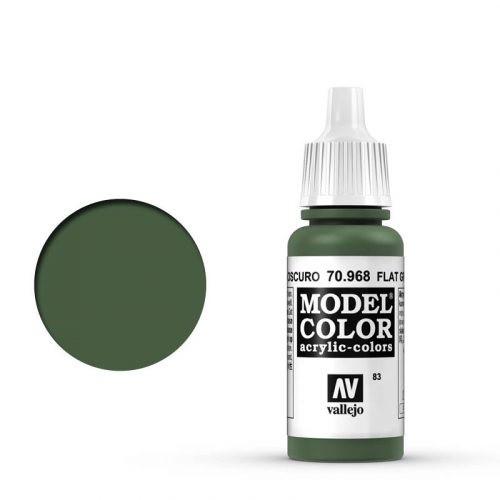Vallejo Model Color: 083 Olivgrün Mittel (Flat Green), 17 ml (968)