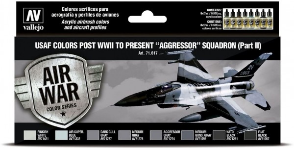 """Model Air: USAF colors post WWII to present """"Aggressor"""" Squadron II"""