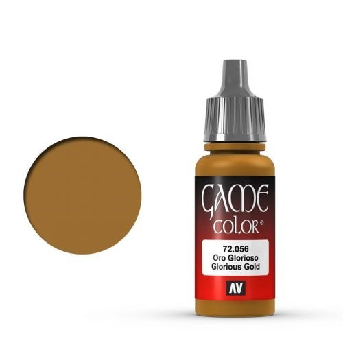 Vallejo Game Color: 056 Glorious Gold, 17 ml
