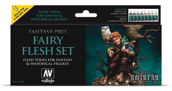 Vallejo Model Color: Model Color Set Fantasy-Pro Fairy Flesh (8)
