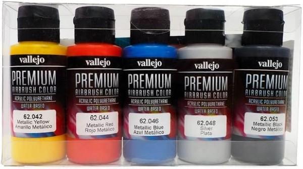 Vallejo Premium: Metallics (Polyu.) (60ml) (5)