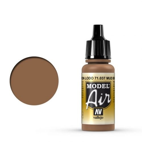 Vallejo Model Air: 037 Mud Brown, 17 ml