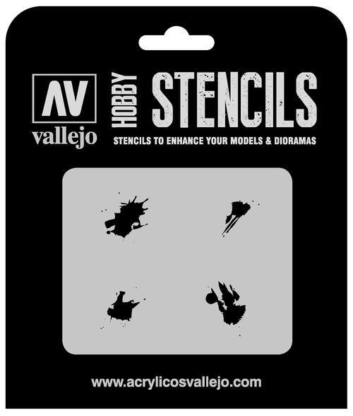 Vallejo Hobby Stencils: Petrol Spills