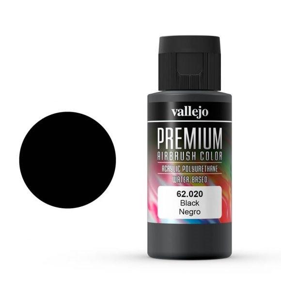 Vallejo Premium: Black (Polyu.) (60ml)
