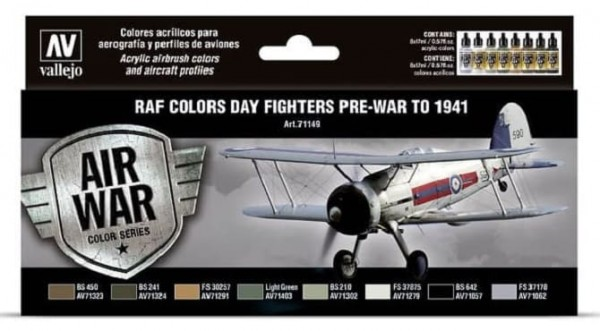 Model Air: Model Air Set RAF & FAA Day Fighters Pre-War to 1941 (8)