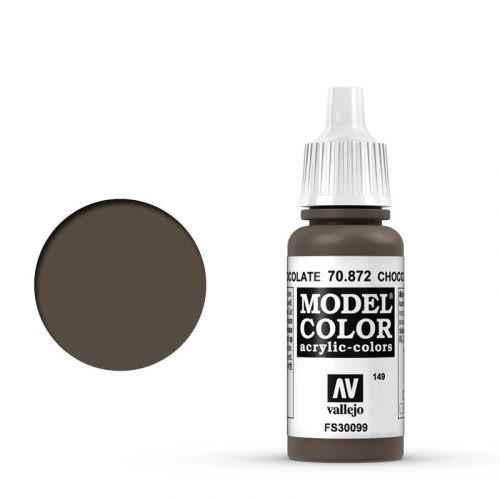 Vallejo Model Color: 149 Schokoladen Braun (Chocolate Brown), 17 ml (872)