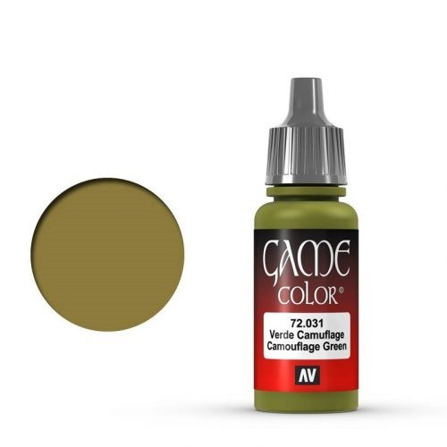 Vallejo Game Color: 031 Camouflage Green, 17 ml