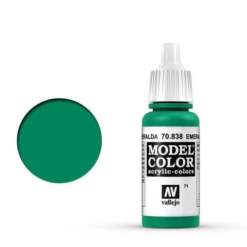 Vallejo Model Color: 071 Smaragdgrün (Emerald Green), 17 ml (838)