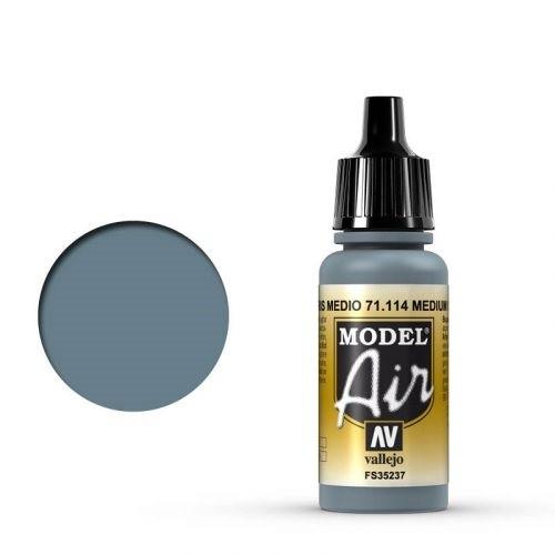 Vallejo Model Air: 71114 Medium Gray, 17 ml