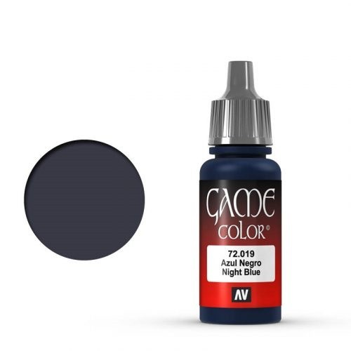 Vallejo Game Color: 019 Night Blue, 17 ml