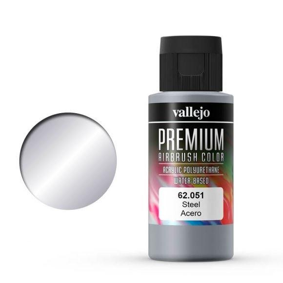 Vallejo Premium: Steel (Polyu.) (60ml)