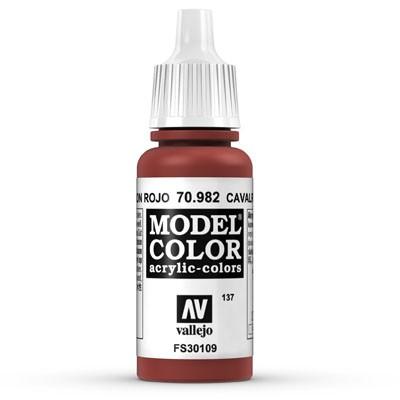 Vallejo Model Color: 137 Oxidrot (Cavalry Brown), 17 ml (982)