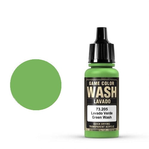 Vallejo Game Color Ink: 205 Wash Green Shade, 17 ml