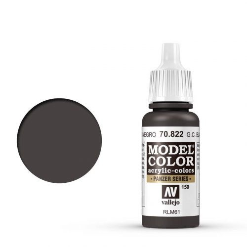 Vallejo Model Color: 150 Schwarzbraune Tarnung (Ger. Camo Black Brown) (822)