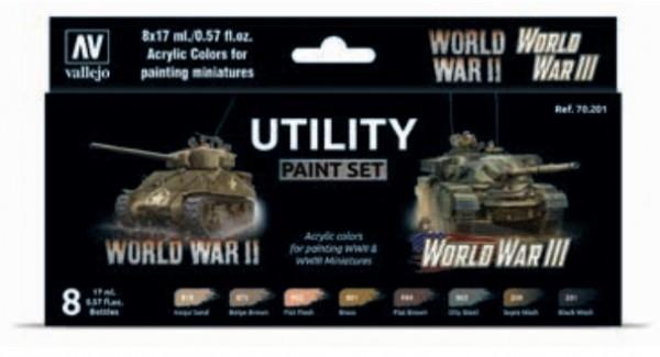 Vallejo Model Color: Model Color: Utility Paint Set