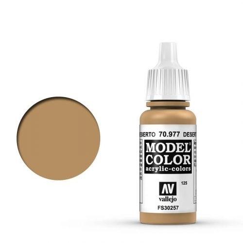 Vallejo Model Color: 125 Ockergelb Dunkel (Desert Yellow), 17 ml (977)