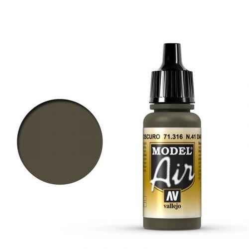 Vallejo Model Air: 71316 N.41 Dark Olive Drab 17ml