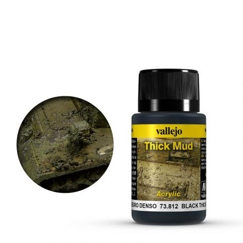 Vallejo Weathering Effects Thick Mud Black 40 ml