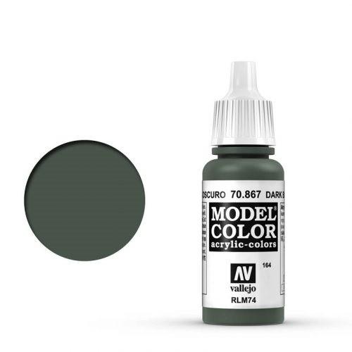Vallejo Model Color: 164 Graublau Dunkel (Dark Bluegray), 17 ml (867)